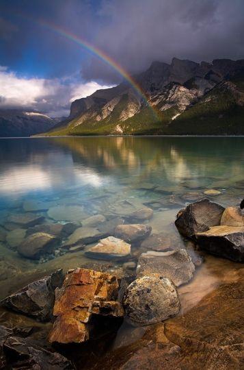 Lake Minnewanka, Banff National Park, Canada ~