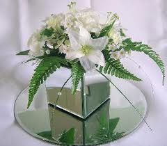 fishbowl white wedding centrepieces - Google Search