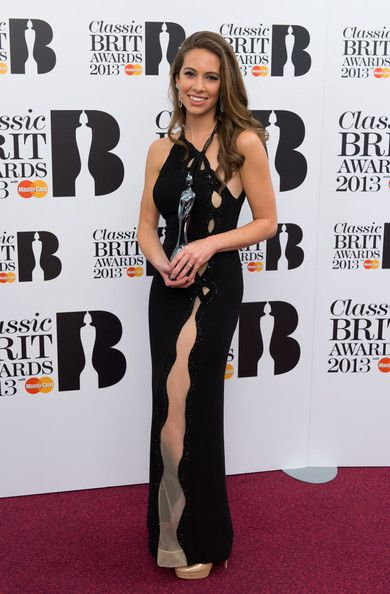 Amy Dickson, Winner of Mastercard Breakthrough Artist of the Year Award poses in the winners room at the Classic BRIT Awards 2013 at Royal A...