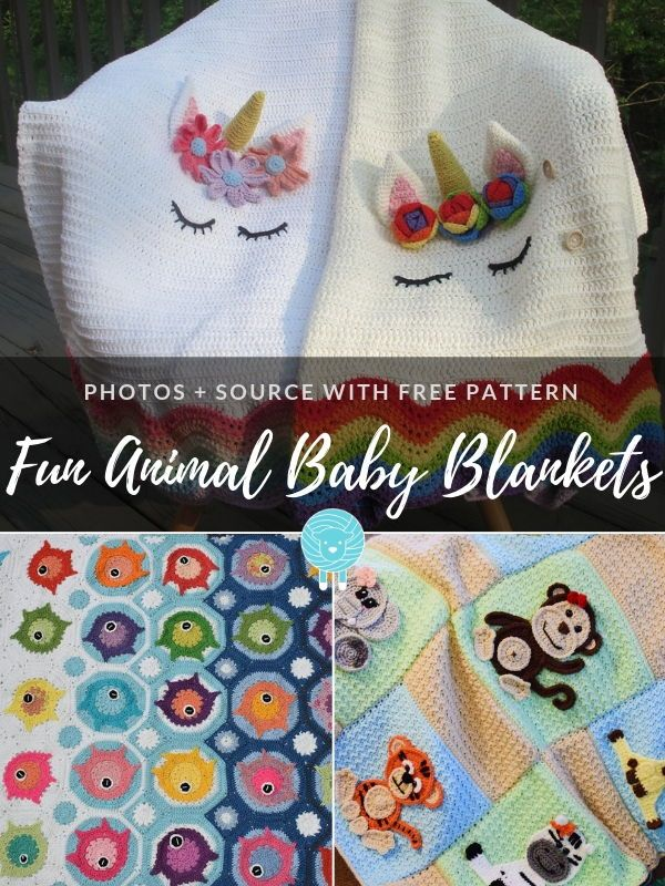 Fun Animal Baby Blankets Free Crochet Patterns With Images