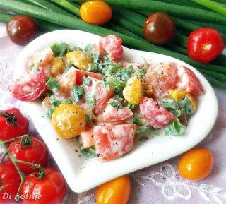 Di gotuje: Mix pomidorków ze szczypiorem i śmietaną