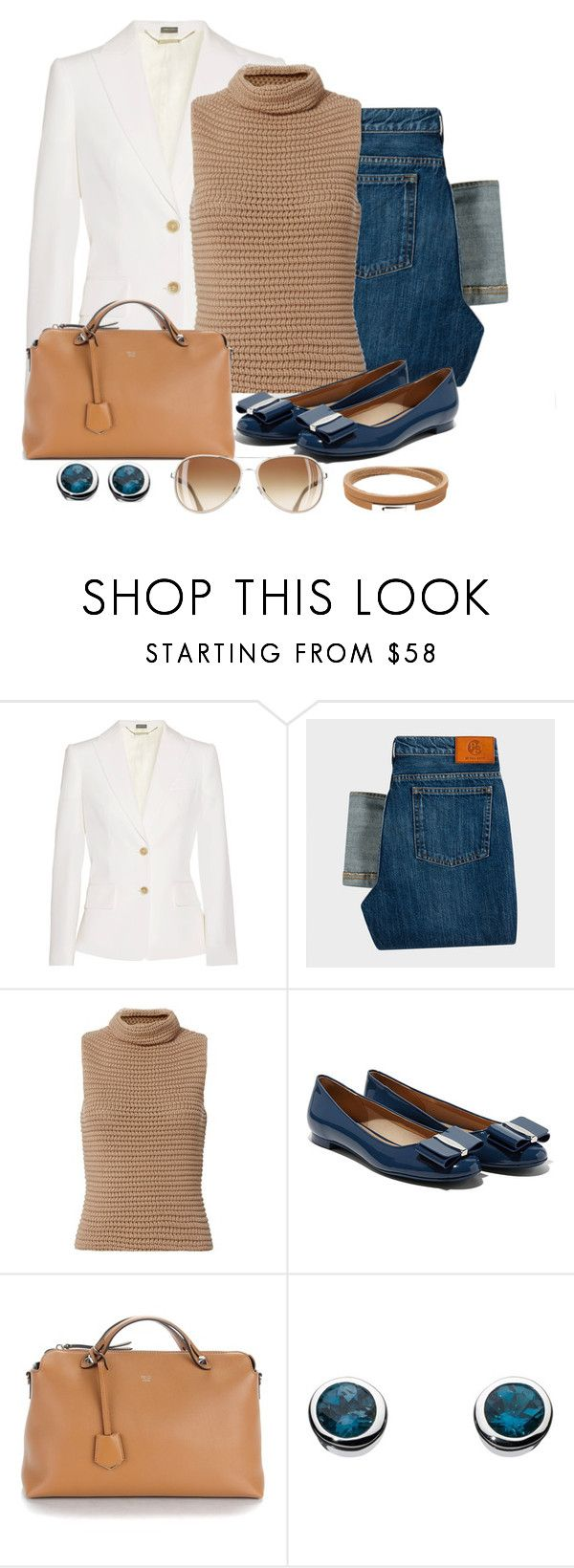 """""""Untitled #1305"""" by gallant81 ❤ liked on Polyvore featuring Alexander McQueen, PS Paul Smith, Exclusive for Intermix, Fendi, Kit Heath and Ted Baker"""