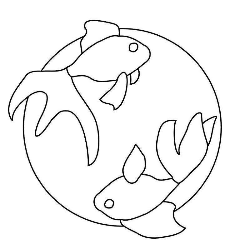 Motif gratuit koi pour sashiko                                                                                                                                                      Plus
