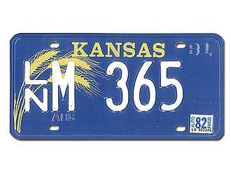 Kansas Nummernschild - original - Hausnummern und Schilder online kaufen