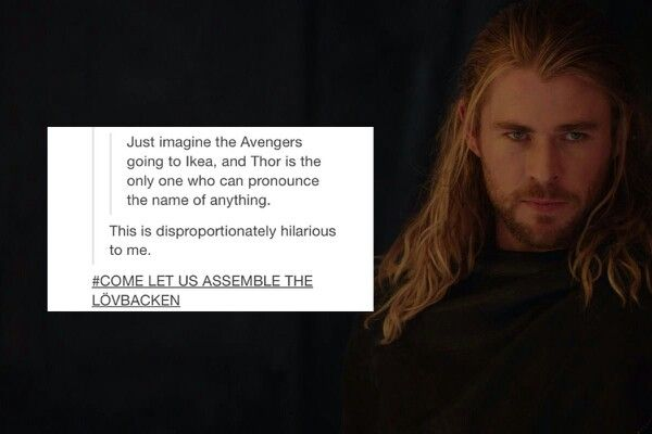 The Avengers go to Ikea. Wow. You just reached that unattainable level of awesome and surpassed it.