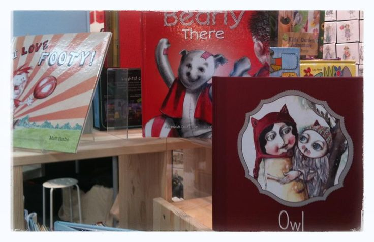 "Out editor Cristina snapped these shots of some #WindyHollowBooks at the #Melbourne #Gift #Fair this past week! Featuring our new #August release, ""Owl"" by #AnnaPignataro!"