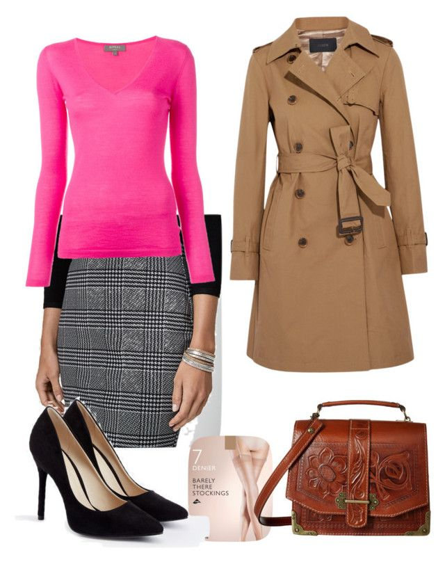 """Weather Girl"" by congiolosigirl on Polyvore featuring Le Chateau, N.Peal, John Lewis, J.Crew, JustFab and Patricia Nash"