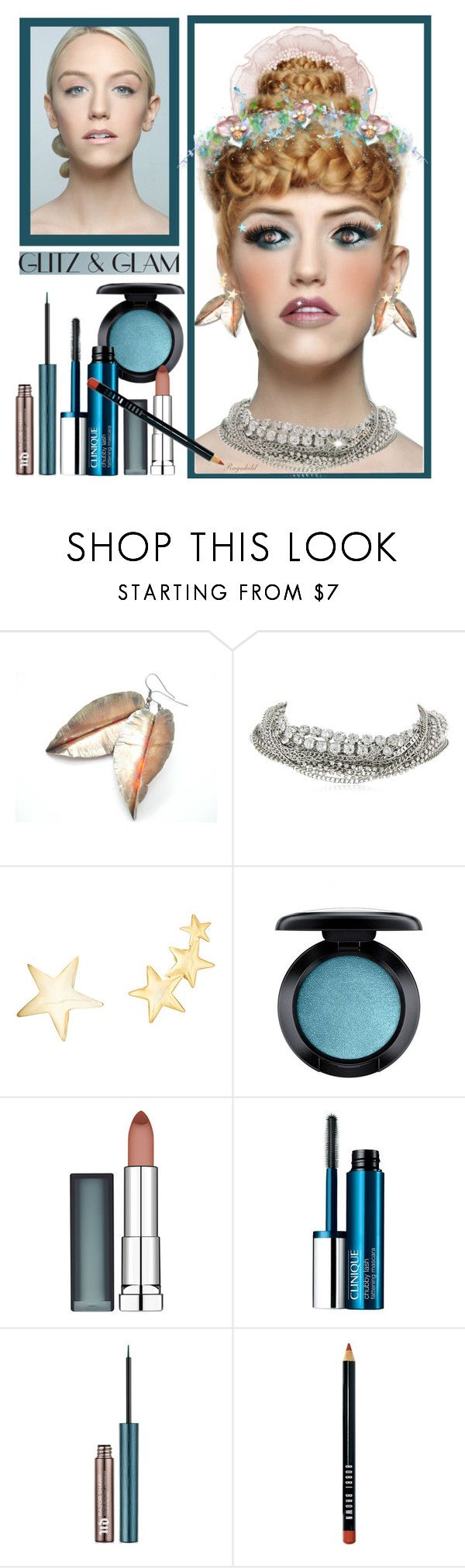"""""""Glam Makeover Contest!"""" by ragnh-mjos ❤ liked on Polyvore featuring beauty, ABS by Allen Schwartz, Kenneth Jay Lane, MAC Cosmetics, Maybelline, Clinique, Urban Decay and Bobbi Brown Cosmetics"""