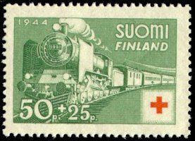 Suomi 1944 - Punainen Risti 1944 - 1/4 Sairaalajuna