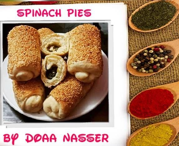 فطائر هشه بالجبنه القريش والسبانخ مغذيه ولذيذه بالصور من Doaa Nasser Cooking Recipe Food Asian Recipes Spinach Pie