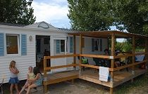 Location mobil-home 3 chambres terrasse couverte Vendee