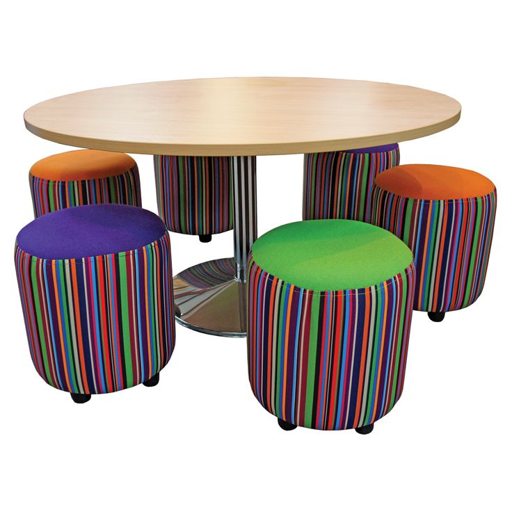 School Library Furniture: Large Round Table Kit