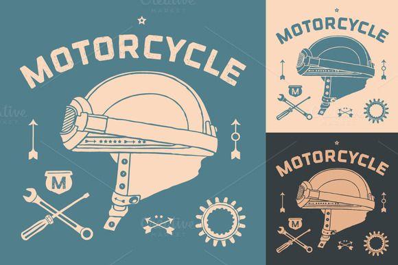 Vintage race motorcycle helmet  @creativework247