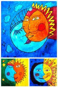 La lune et le soleil (chd école)