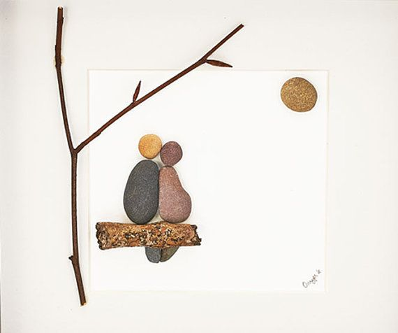 This Lovers under a Tree pebble art picture is a beautiful personalised piece - it makes a lovely gift (especially as a housewarming gift, new home gift, engagement gift, anniversary gift or wedding gift) and I have left room underneath to personalise it with the names of whoever you want.  This piece of art would make a perfect engagement gift or a wedding gift or even a housewarming gift.  I can personalise any piece of work with names or dates to make it the perfect unique present. This…