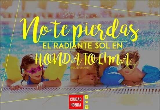 #finde disfrutando el sol en #HondaTolima