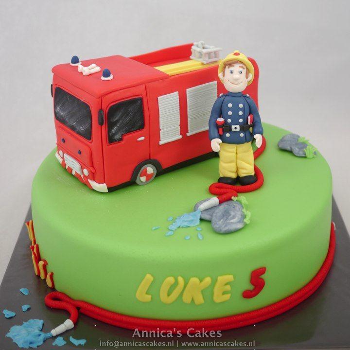 fireman sam. Brandweerman Sam taart
