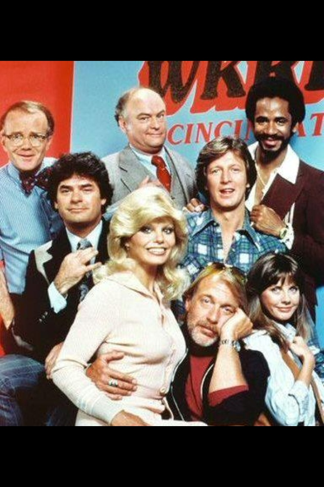 WKRP IN CINCINNATI - Cast members:  Gary Sandy (Andy Travis), Howard Hesseman (Fever), Loni Anderson (Jennifer), Tim Reid (Venus Flytrap), Jan Smithers (Bailey Quarters), Richard Sanders (Les Nessman) & Frank Bonner (Herb).
