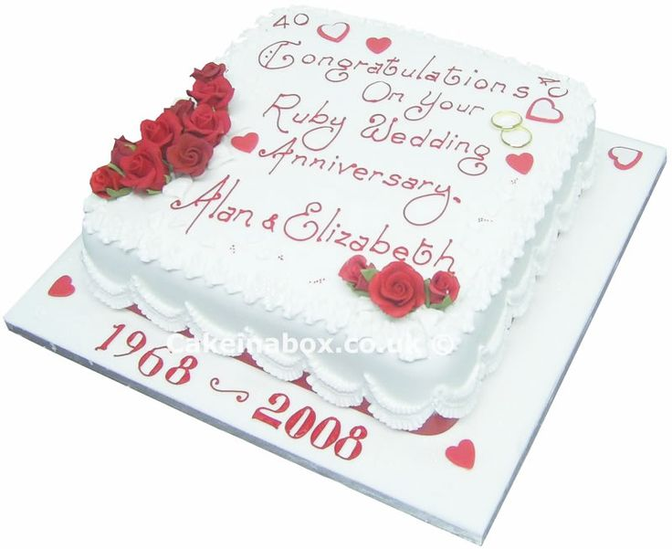 40th wedding anniversary ideas anniversary cake 40th for 40th wedding anniversary decoration ideas
