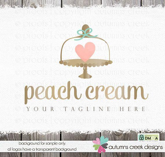 baking logo cake plate logo premade logo bakery by autumnscreek