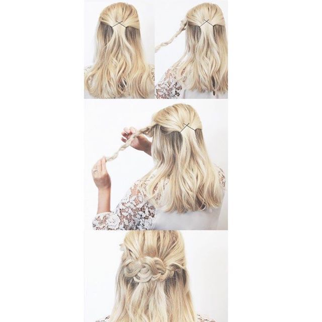 Top 100 cute medium hairstyles photos Half Up Pinned Braid 😇 creds: kassinka.com. Hope everyone stays safe during the hurricane weather, comment below if it is coming near you 👇🏼 #halfup #hurricane #updo #blonde #braid #flower #shorthair #longhair #short #cutehairstyles #hairtutorials #hair #tutorials #weather #comment #stepbystep #occasion #gorgeous #adorable See more http://wumann.com/top-100-cute-medium-hairstyles-photos/