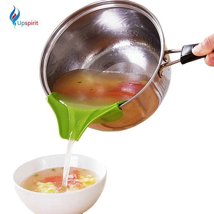 El nuevo Venir Adminículos de la Cocina Creativa Vierta la Sopa Anti-derrame y Sopa Fuga Deflector Útiles Inicio Cocina Herramientas de la Especialidad