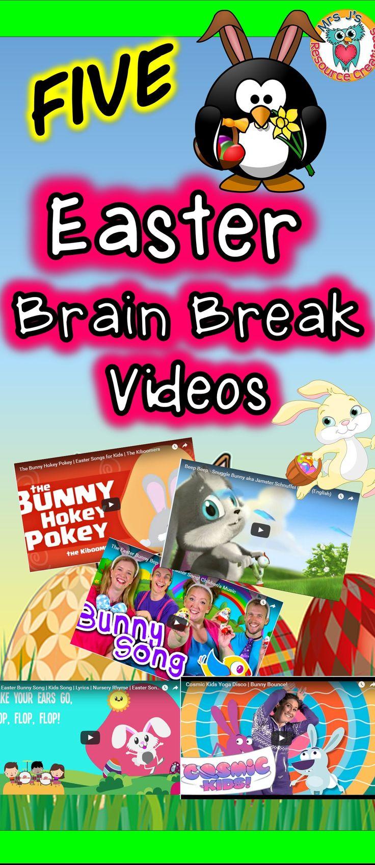 Easter Brain Break Videos for the Classroom!