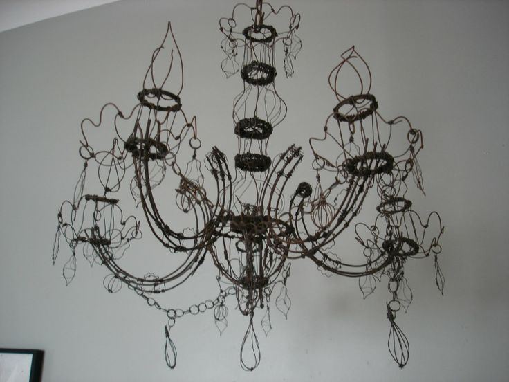 54 best wire chandeliers images on pinterest light fixtures insideways curb find wire chandelier he found this on the side of the road never in auckland aloadofball Choice Image