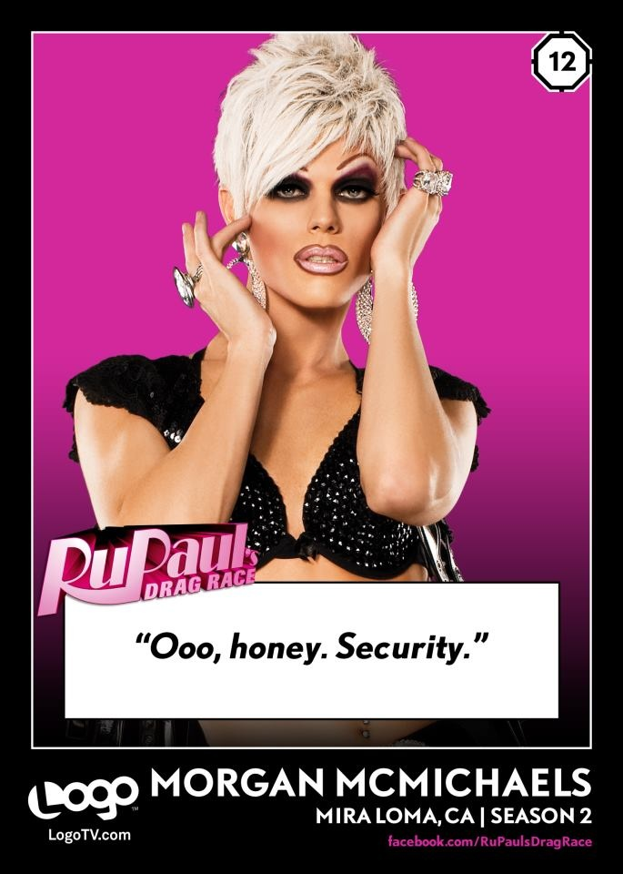 Drag Race trading card #12 - Morgan McMichaels
