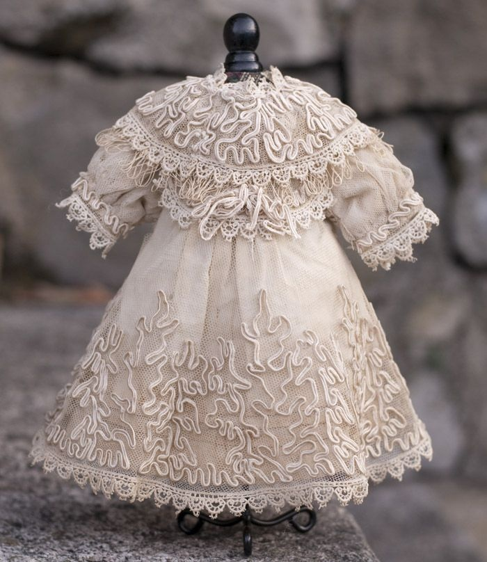 Antique French Tulle Lace dress for Jumeau Bru Steiner bebe doll...