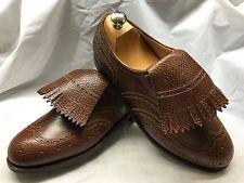 Amazing Bespoke John Lobb Brown Leather GOLF Shoes UK 9.5/10 RRP £4000+