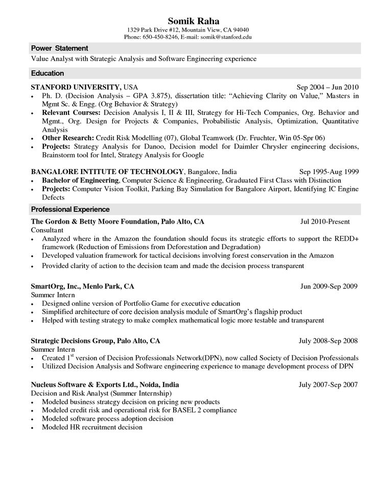 33 best Resume Ideas and Tips images on Pinterest Resume ideas - example software engineer resume