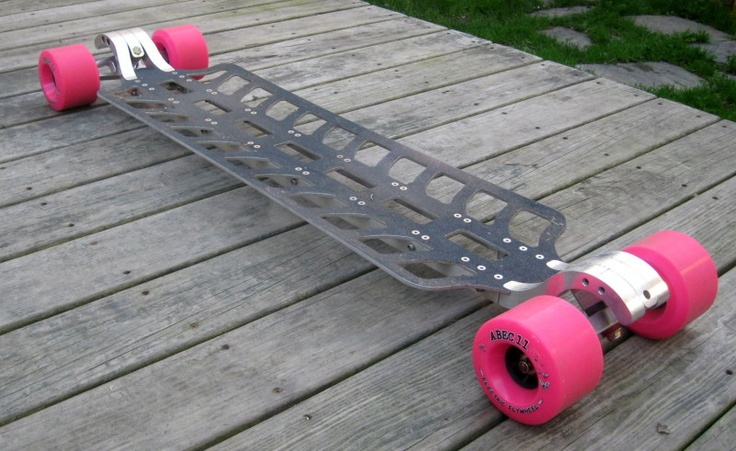 Cindrich boards billet aluminum decks longboard for Longest decking boards
