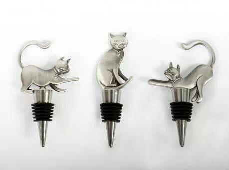 Cat wine bottle stoppers                                                                                                                                                                                 Mehr