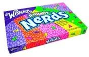 Wonka Rainbow Nerds Wonka Nerds Rainbow Giftbox is een doosje met heel veel kleine, krokante, gekleurde snoepjes in verschillende fruitige smaken. Van de bekende snoepuitvinder Willy Wonka! Tip: Gebruik Wonka Nerds als decoratie voor cupcakes of een andere lekkere traktatie! € 2,95- KAUWGOMBALLEN-SHOP.NL