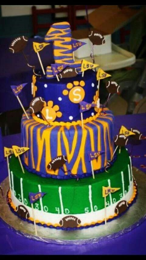 LSU... Jax first birthday cake?