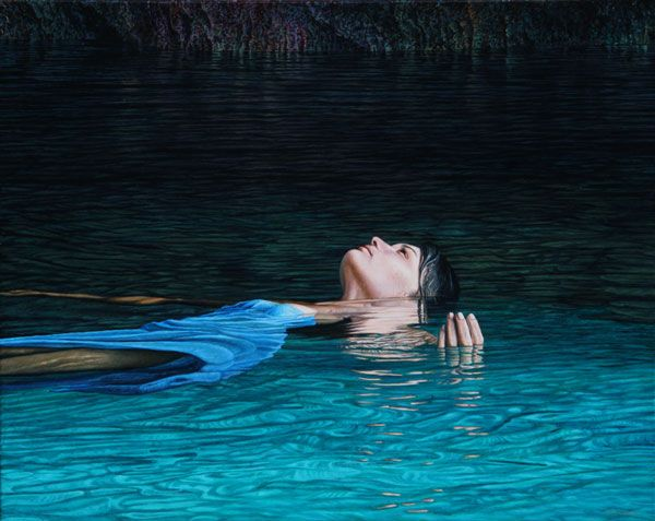 Mark Cross - New Zealand Born contemporary realist artist, Cave Muse
