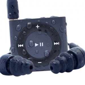 Waterproof Ipod Shuffle AND plugs!  This would be an amazing motivator in the water!  I want this!  I want this!  I want it!!!