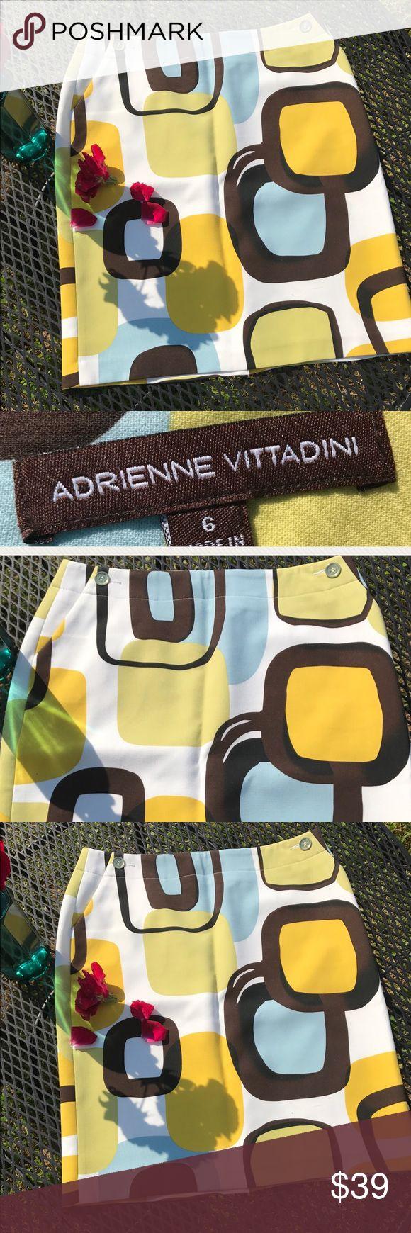 Adrienne Vittadini Bold Geometric Print Skirt SZ 6 Adrienne Vittadini Bold Geometric Print Skirt SZ 6 Adrienne Vittadini Skirts
