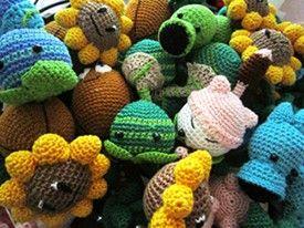 PATTERNS - Plants versus Zombies dolls!