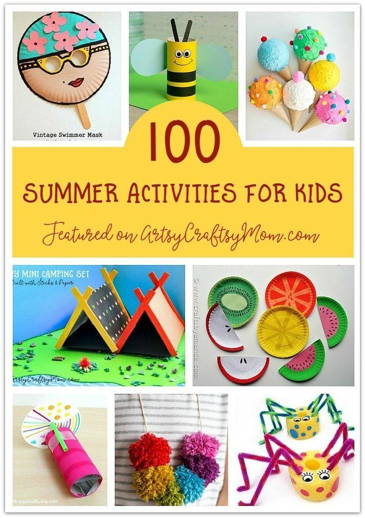 Die ultimative Liste von 100 Sommeraktivitäten für Kinder   – Summer crafts and activities