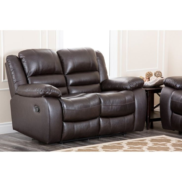 Abbyson Living Anderson Leather Reclining Loveseat - CH-8801-BRN-2