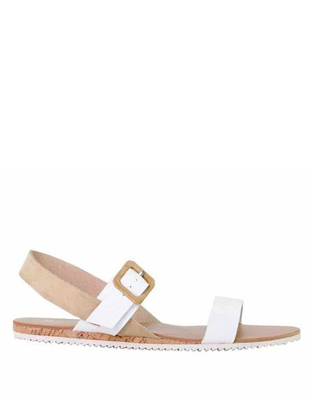 Soles - Shoes - Deakin Sandals - White - Sand - Leather $99.90