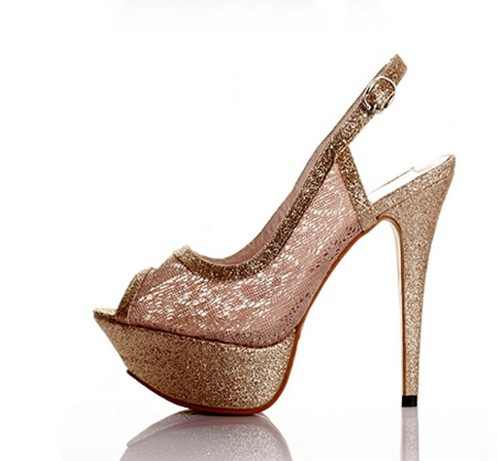 Graceful Hollowed Fish Mouth High-heeled Shoes