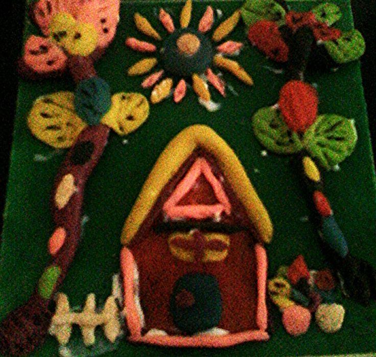 Greeny House Clay. #polymerclay #flourclay #miniatureclay #clayarts #paintingclay