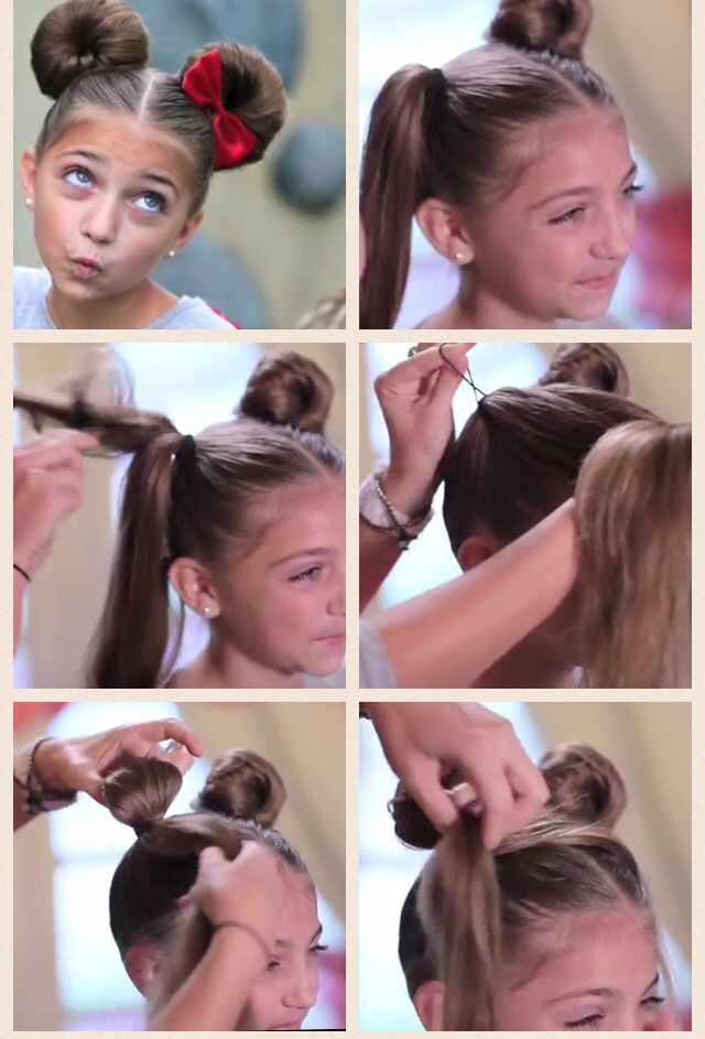 Minnie mouse buns                                                                #hairstyles #hairstylesforkids