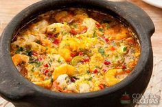 Receita de Moqueca de peixe e camarão especial em receitas de peixes, veja essa e outras receitas aqui!