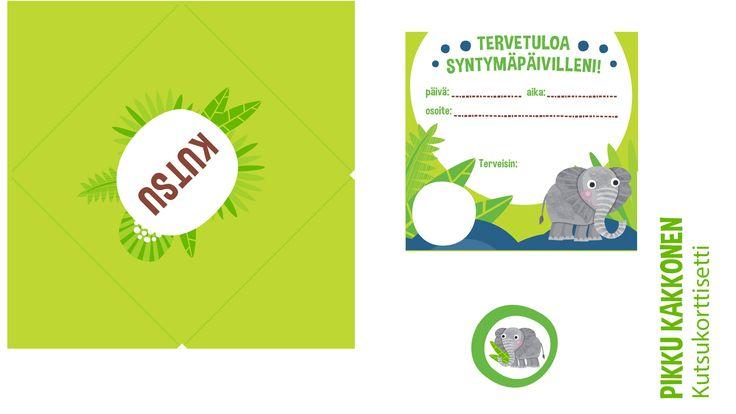 Kutsu | lasten | juhlat | askartelu | syntymäpäivät | synttärit | paperi | tulostettava | invitation | printable| paper | DIY ideas | birthday | party | kids | children | kid crafts | crafts | Pikku Kakkonen