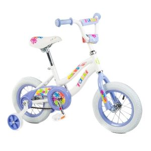 With the dream color pink and white and a low stand over frame for easy starting , this bike is perfect for girls between 2-5 years old. It also features as coaster and caliper brakes that provide great stopping power, a uncrown fork that enhances steering and balance, and 24-spoke colored wheels that offer style and reliable performance. This heavy duty training wheels keep your little girl upright until the day she asks you to take them off and enjoy the happiness of riding by herself.