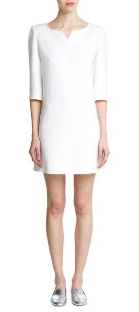 Pour+un+rendez-vous+officiel,+un+vernissage+ou+un+dîner,+cette+robe+en+laine+signée+Courreges+est+ultra+efficace+en+toute+circonstance+#Stylebop